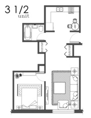 3 1/2 Lachine, Qc $675/month Included:heat, hot water, fridge, stove
