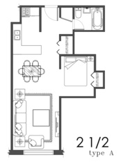 2 1/2 Lachine, Qc $575/month Included:heat, hot water, fridge, stove