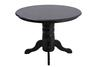 Morley black wood table and four chairs