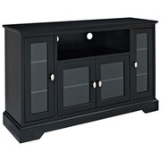 Walker Edison black wood television stand